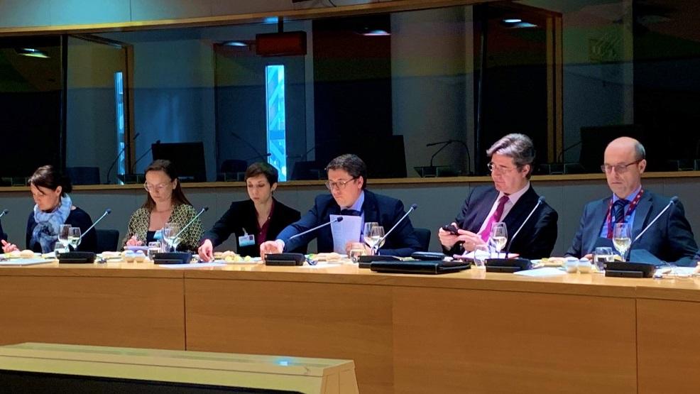Daniel Fiott briefs EU PSC Ambassadors