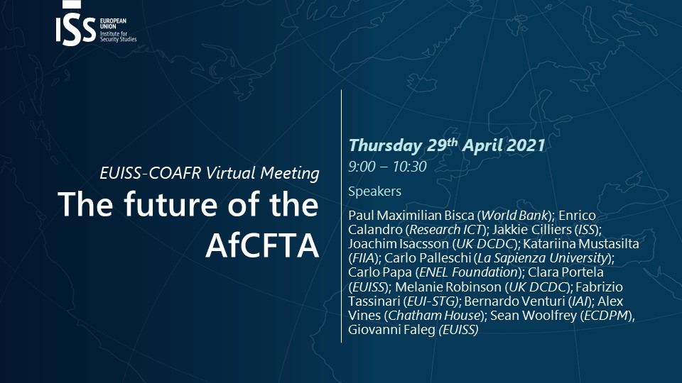 Backdrop of online COAFR meeting indicating date and topic