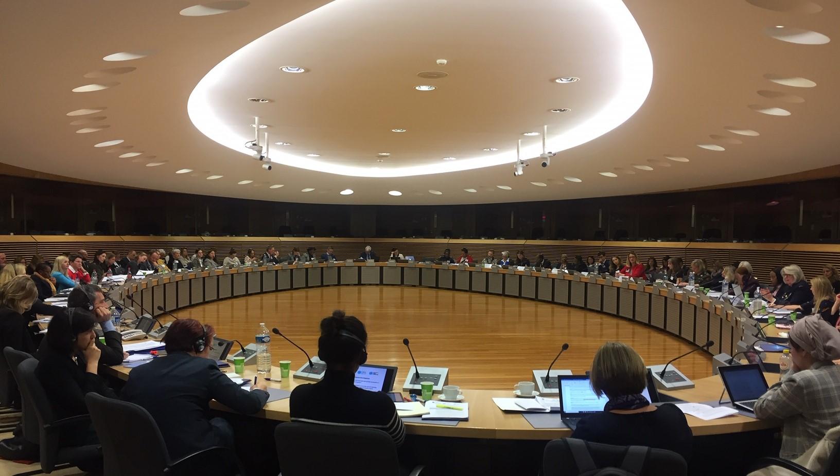 EU-UN WPS workshop conference room and participants