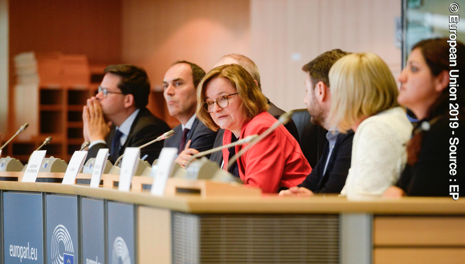 Image of a panel at the European Parliament event on Strategic Compass