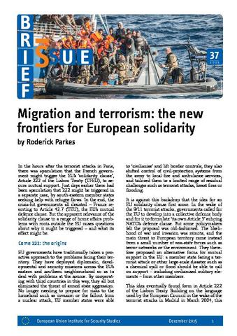 Migration And Terrorism The New Frontiers For European