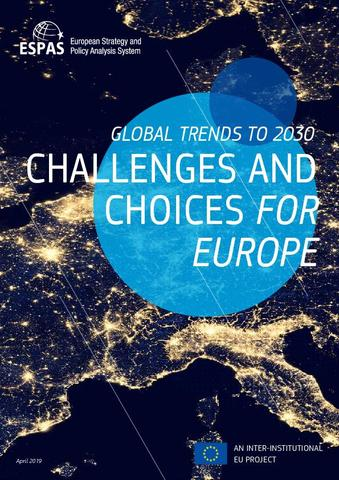 Global trends 2030: challenges and opportunities for Europe