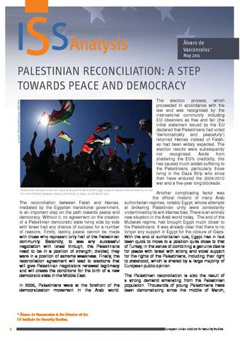 Palestinian reconciliation: a step towards peace and democracy