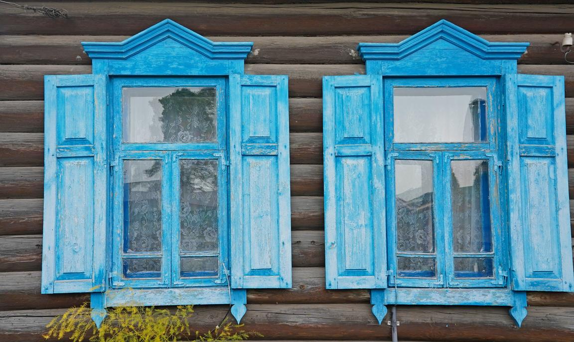 Traditional windows in Belarus