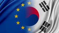 EU and Republic of Korea flags  © Getty images via Canva pro