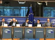 Photo of panel at European Parliament